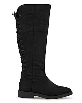 Katniss High Leg Boots Wide Fit Super Curvy Calf