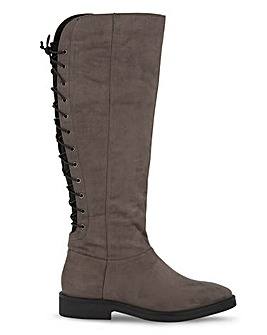 Katniss High Leg Boots Extra Wide Fit Super Curvy Calf