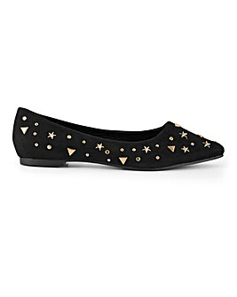 Astro Star Studded Shoes Extra Wide Fit
