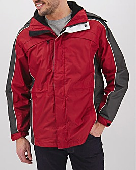 Red 3 in 1 Jacket Regular