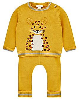 Monsoon Elijah Leopard Knitted Set