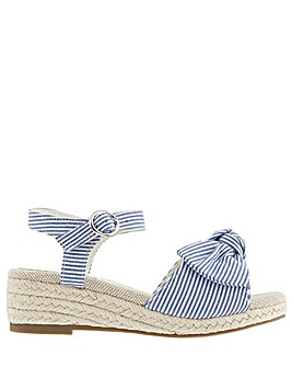 Monsoon Striped Espadrille Wedge Sandal
