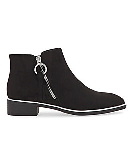 Daffodilla Zip Ankle Boots Wide E Fit