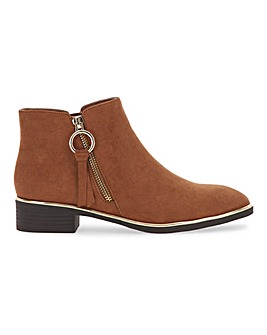 Daffodilla Zip Ankle Boots Standard D Fit
