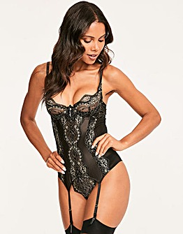 Figleaves Stella Lurex Lace Basque