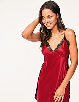 Marilyn Lace Panel Satin Chemise