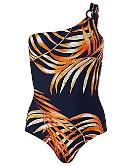 Monsoon Hana Palm One Shoulder Swimsuit