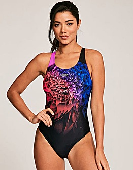 Speedo Neon Whizz Powerback Swimsuit