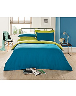 Plain Dye Twin Pack Duvet Cover Set