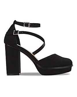 Platform Strappy Heels Extra Wide Fit