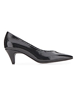 Rayleigh Heeled Patent Classic Court Shoes Wide Fit