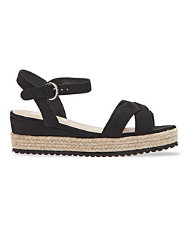 Strasbourg Espadrille Wedge Sandals Extra Wide Fit