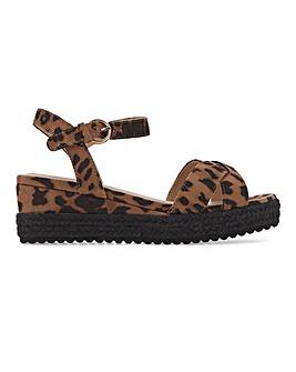 Espadrille Wedge Sandals Wide Fit