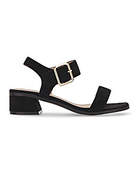 Bergerac Low Block Heel Sandals Wide Fit