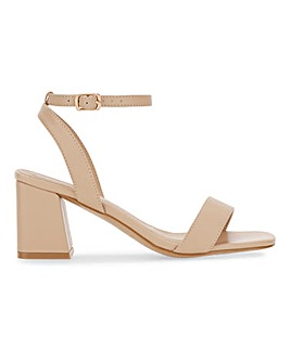 Moulins Square Toe Block Heel Sandals Wide Fit