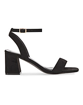 Moulins Square Toe Block Heel Sandals Extra Wide Fit