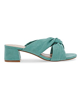 Calais Knotted Block Heel Mules Wide Fit