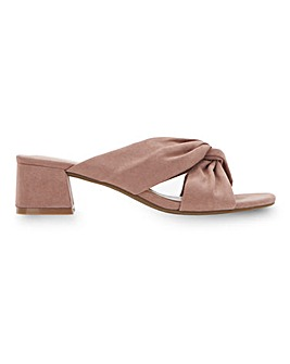 Calais Knotted Block Heel Mules Extra Wide Fit