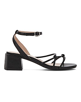 Tennessee Knotted Strappy Block Heel Sandals Wide Fit