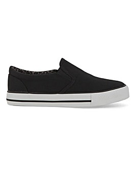 Nelson Canvas Slip On Pumps Extra Wide Fit