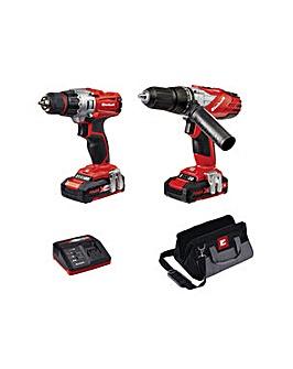 Einhell Power-X-Change Twin Drill Pack