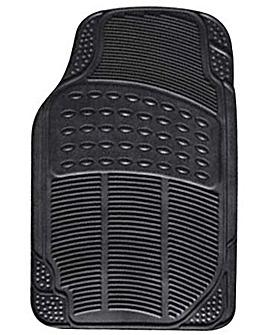 4 Pce Rubber Mat Set - Explorer - Black