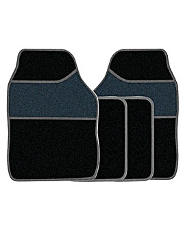 4 Pce Carpet Mat Set