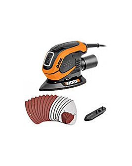 WORX Detail Corded Palm Sander- 55W