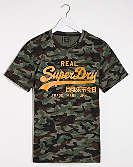 Superdry Vintage Label Print T-Shirt