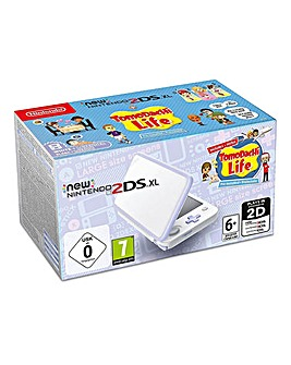 Nintendo 2DS XL White & Lav Tomodachi
