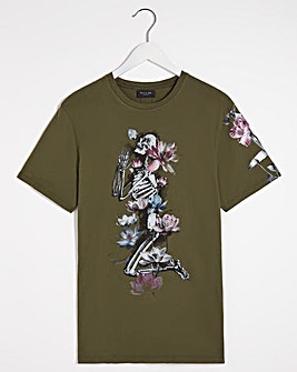 Religion Lotus Skelton T-Shirt