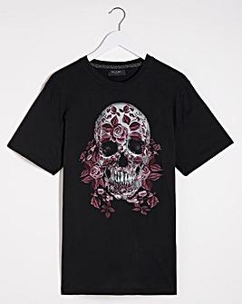 Religion Wrapped Skull T-Shirt