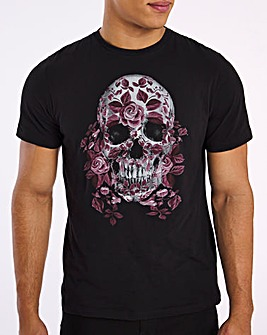 Religion Wrapped Skull T-Shirt Long