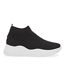 Hollie Sock Ankle Trainers Wide Fit