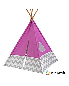 KidKraft Play Teepee Pink Chevron