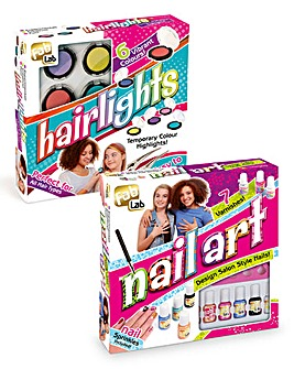 Fab Lab Hairlights & Nail Art 2 Pack
