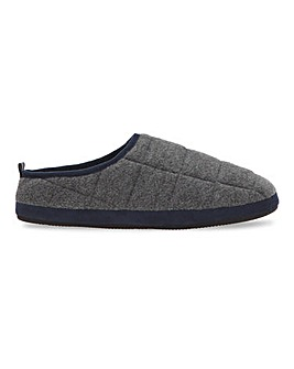Jacamo Fleece Quilted Mule Slipper
