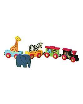 Wooden Animal Train