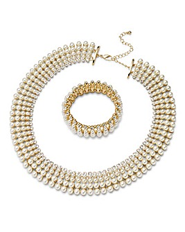 Joanna Hope Pearl Necklace and Bracelet