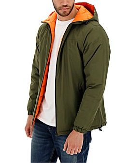 Green/Orange Reversible Quilted Coat