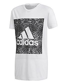 adidas Youth Girl Logo Loose Tee