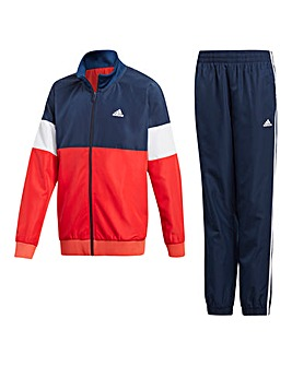 adidas Younger Boys Stripe Tracksuit