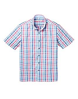 WILLIAMS & BROWN Short Sleeve Check Shirt