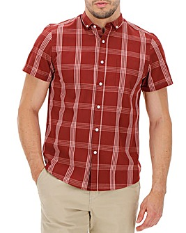 Wine Check Short Sleeve Shirt
