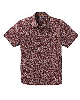 Folk Floral Short Sleeve Shirt Regular
