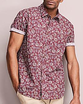 Folk Floral Short Sleeve Shirt