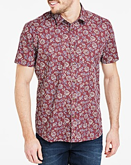 Folk Floral Short Sleeve Shirt