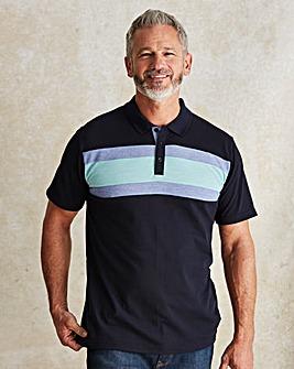 WILLIAMS & BROWN Short Sleeve Polo Shirt Longer