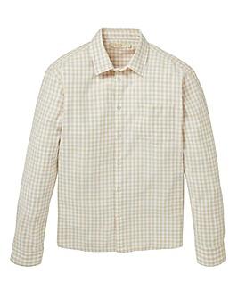 WILLIAMS & BROWN Linen Mix Check Shirt
