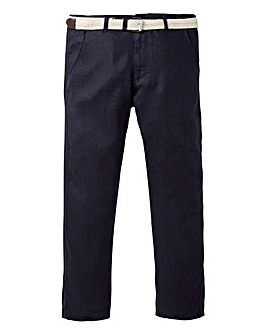 WILLIAMS & BROWN Linen Trousers & Belt 31in